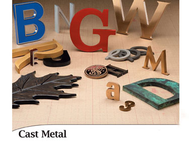 Cast and 3D Metal Letters and Signs