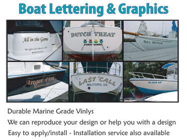 Boat Lettering and Boat Graphics