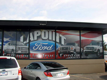 Perforated Window Graphics - Window Perf